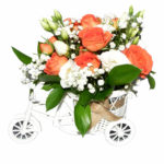 tricicleta plina cu flori