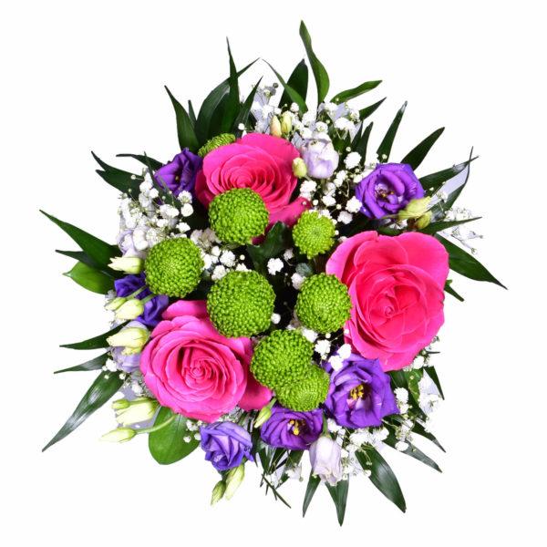 cutie rotunda cu flori