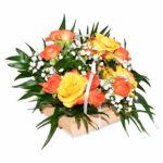 Cuvita vesele cu flori