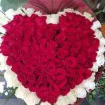 inima de flori pentru ziua indragostitilor