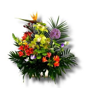 aranjanent floral cadou in cutie-vintage mov2