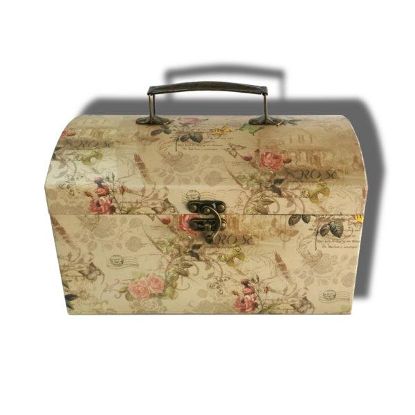 cutie cufar vintage pentru aranajmente florale