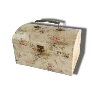 cutie cufar aspect vintage pentru aranajmente florale