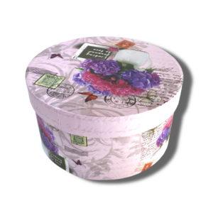cutie-rotunda-roz pentru aranjamente florale sau cadouri