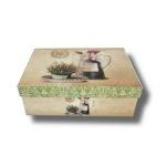 cutie-vintage cu model pe margine pentru aranjament floral sau pentru cadouri